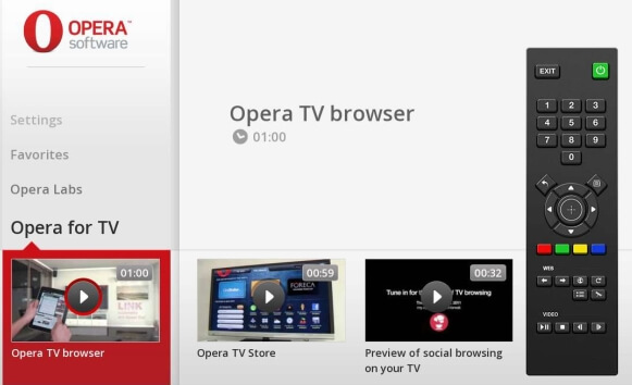 Devices Software Development Kit в Opera tv browser